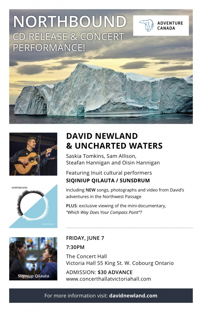 David Newland NORTHBOUND CD Release Cobourg